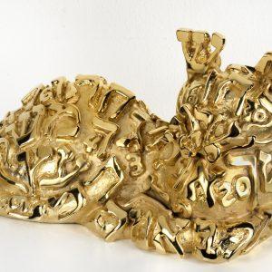 1346 LINGATTO 2014 bronzo dorato 32 x 13 x 13