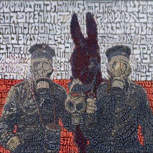 1421 KADDISH di CAPORETTO 2017 tela 80 x 90