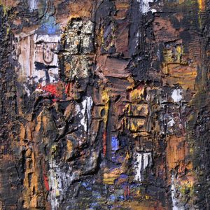 15 Verso sera, 2017, tecnica mista su tela, 70x60