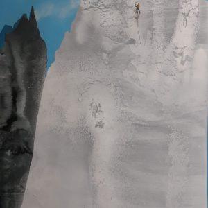 Arrampicata vertiginosa 120 x 63 2020