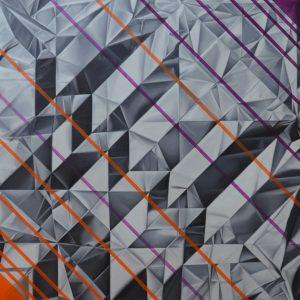 Basset hound, olio su tela cm 100 x 100