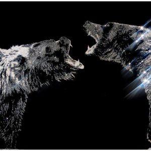 Can you feel my anger, 40800 Crystals from Swarovski su plexiglass, 2018, 80x150 cm