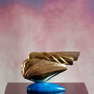 Elvino Motti Nike 2014 bronzo 22x5x15 zanini arte