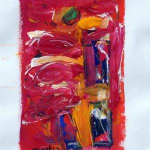 Finestra bolognese, 2017, acrilico su carta, cm 70x50