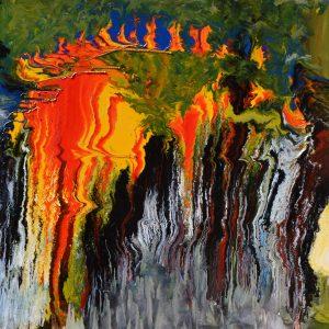Fisiologia della psiche, tecnica mista su tela, cm. 100 x 120 2009
