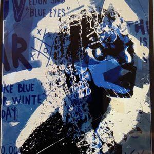 Giordan Rubio, Blue Eyes tecnica mista su tela 120 x 175, Zanini Arte