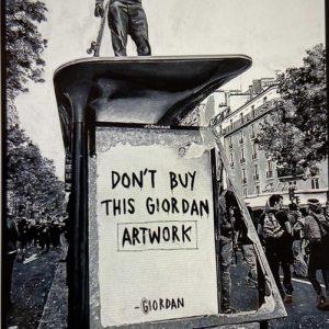 Giordan Rubio, Don't Buy This tecnica mista su tela 110 x 170, Zanini Arte