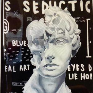 Giordan Rubio, Real Art tecnica mista su tela 100 x 73, Zanini Arte