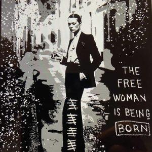 Giordan Rubio, The Free Woman tecnica mista su tela 100 x 73, Zanini Arte