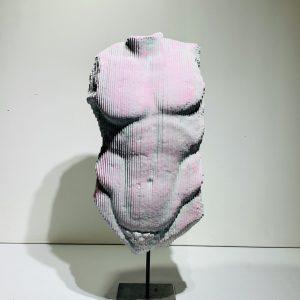 Haring torso_Daniele Fortuna_Zanini Arte 47 x 33 x 23