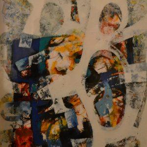 Il re, tecnica mista su carta 100 x 70 2001