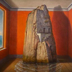 Interno, olio su tela cm. 30 x 35