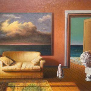 Interno, olio su tela cm. 40 x 50
