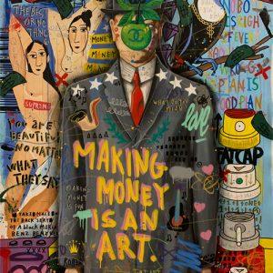 Jisbar, 2020, Son of a man, 1 Mixed Media on Canvas, 130x97cm Zanini Arte