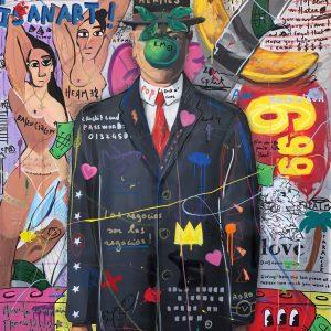 Jisbar, 2020, Son of a... , Mixed Media on Canvas, 116x89cm-min-min