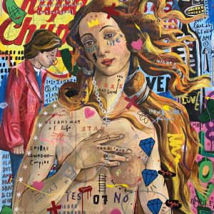 Jisbar, 2020, Venus Hockney, Mixed Media on Canva, 100x81cm ZANINI ARTE
