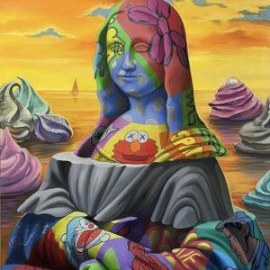 Mona in creme 100 x 80 Viktoryia Veisbrut Zanini Arte