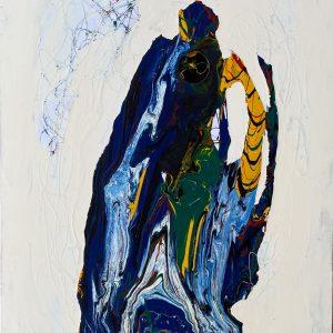 Morfologia evolutiva, tecnica mista su tela, cm 150 x 100 2009