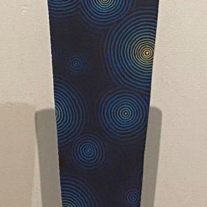 Notte di sogno, tecnica mista su metallo, cm 29 x 189 x 29