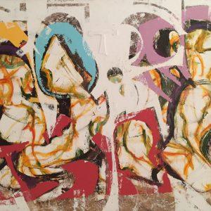 Nuovo 2, tecnica mista su tela, cm 100 x 150