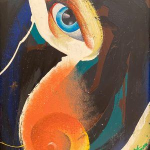 Occhio erotico, tecnica mista su tela, cm 50 x 35 1998