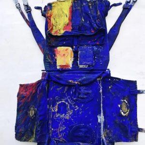 Pittura da viaggio N° 4 cm. 120 x 50 x 15
