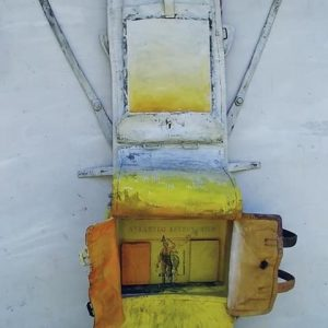 Pittura da viaggio N° 7 cm. 110 x 50 x 12