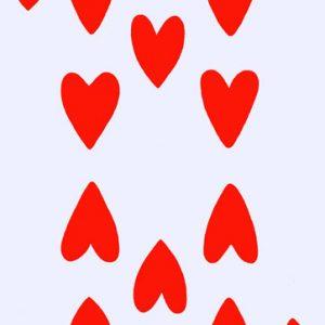 Poker face, dieci di cuori,tecnica mista su tela cm.130 x 83