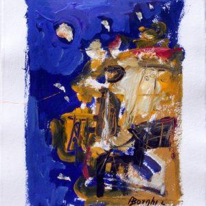 Portovenere, 2017, acrilico su carta, cm 70x50