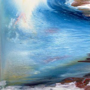 Riflessioni all'alba, tecnica mista su tela, cm120 x 100 2013