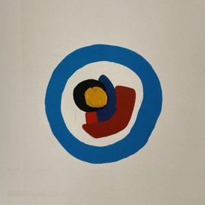 Ritmi dell'inconscio, tecnica mista su tela, cm 100 x 70 1980