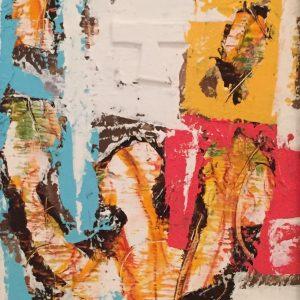 Sentenza, tecnica mista su tela, cm. 18 x15 2013