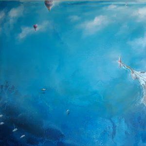 Sentinelle del mare volando indisturbati 120 x 120