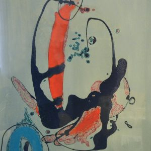 Simboli riflessi, tecnica mista su tela , cm 80 x 60 1985