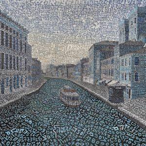 Tobia Rava Infinito a Cannaregio raso 55 x 70 zanini arte