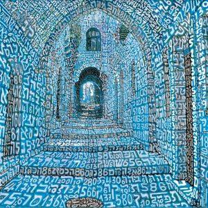 Tobia Ravà Jerusalem 130x90 sublimazione su raso acrilico zanini arte