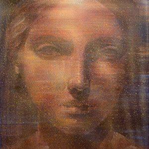 Tecnica mista su pannello microforato, cm. 110 x 110